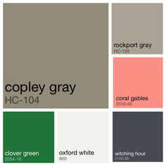 Color Palette Hunter Green Light Grey Dark Grey Pink Peach