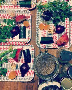 Peeping for tonight's Moroccan Street food evening jewelled salads spiced chickpeas and crispy pastillas all on the menu! #bristolfood #foodporn #foodpic #foodie #moroccan #pomegranate #veggies #vegetarian #mealprep #yum #food #freshherbs #freshfood