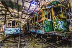 Abandoned Tram Shed by Ruth Spitzer / 500px
