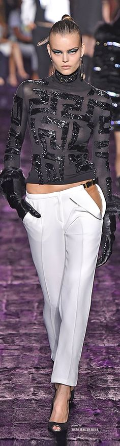 Atelier Versace ----I love this top and pants of course zipped but I love the style but it is Versace