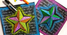 In the Art Room: Super Star Sub Plans and my NAEA Presentations (Cassie Stephens) Art Sub Lessons, Art Sub Plans, School Art Projects, Diy Projects, Project Ideas, 6th Grade Art, Star Art, 3d Star, Art Lessons Elementary