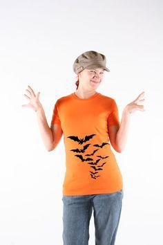 Halloween Bats Shirt  Bats Tee Shirt  Women  by TopBananaPhilly, $17.50