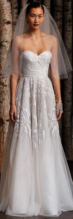 Naeem Khan Spring 2015 Bridal Collection, love the different texture and style, although I don't know if I want to wear it