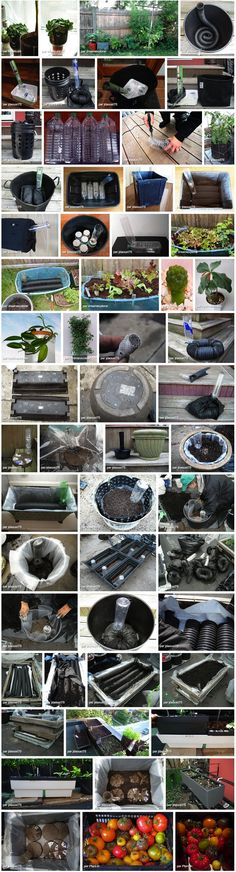 On Flickr, lots of ideas to build home made sub-irrigation (self-watering) containers. Just search with tags.