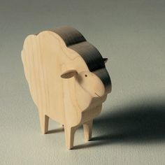 Wooden sheep, I do like wood carving!