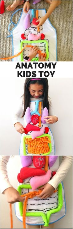 Fun Anatomy Apron Toy for kids Homemade Toys, Sewing Toys, Learning Toys, Science For Kids, Sewing For Beginners, Diy Toys, Kids Education, Kids Gifts, Diy Crafts For Kids