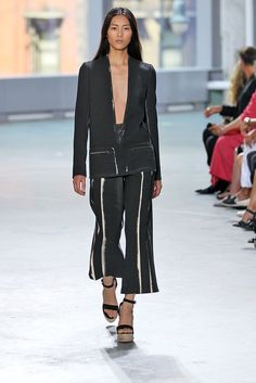 """The Top 20 Fashion Trends Of 2014 #refinery29  """"Culottes — Hitting right below your calf muscle, these baggy, billowing pants are the shape of next spring. With all the elegance of a ball skirt and all the comfort of sweatpants, the culotte is going to be your go-to pant come next year."""""""