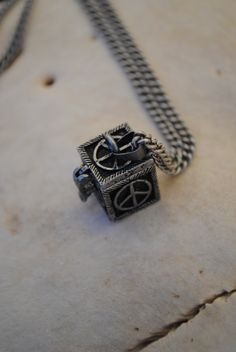 Secret Peace Treasure Box Necklace by Run2theWild on Etsy, $15.00
