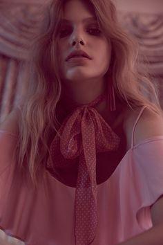 5957599bf8c Annika Krijt shot by Zoey Grossman for BB Dakota Spring 2017 Pink Fashion