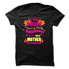 I Love Mother T-Shirt - I Am Mom, Multitasking Queen  T-Shirts #tee #tshirt #named tshirt #hobbie tshirts # Parent