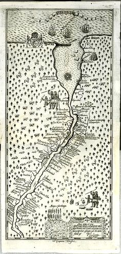 on my search for things that can give my imagination some shape to what the geography was like in 1773. I've picked a 'marker' the year Betia Van Dunk and Deliverance Adams were married... now I'm arranging the world around them. This is a map of the delaware un recognizable, haven't found exactly where. My guess is that the open mouth at the top is the outlet into the atlantic?