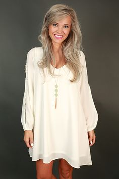 Pair this dress with a long necklace and booties and you'll be festival ready! We love the back detailing on this dress!