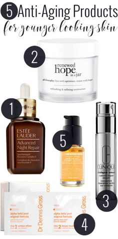 5 Anti-aging Products for Younger Looking Skin