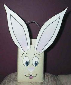 Easter Bunny Milk Carton Container