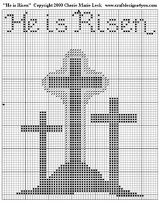 He is risen cross stitch