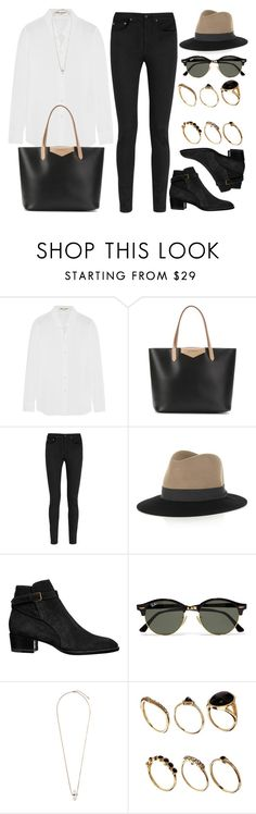 """Style #10723"" by vany-alvarado ❤ liked on Polyvore featuring Yves Saint Laurent, Givenchy, rag & bone, Ray-Ban, Topshop and ASOS"