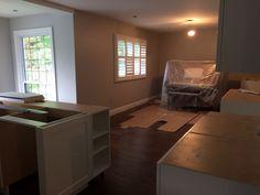 Open Concept, Powder Room, Corner Desk, Kitchen, Furniture, Home Decor, Trough Sink, Cooking, Homemade Home Decor