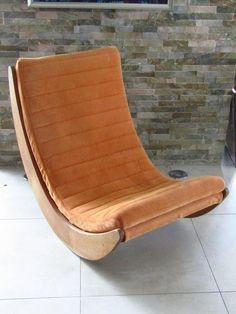 verner panton pair of vintage rocking chair reupholstered in kvadrat