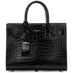 e1aa645a6e70 SAINT LAURENT Black Croc Nano Sac de Jour Tote.  saintlaurent  bags  leather