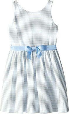 NWT Ralph Lauren Girls S//S Striped Fit /& Flare Ponte Knit Dress Sz 5 6 NEW $60