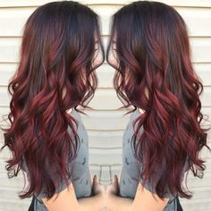 THIS!!! Fabulous Red Balayage Hair Styles for Long Wavy Hair