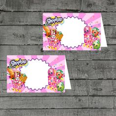 Shopkins Food Tent Labels Shopkins Party by PartyPrintableInvite