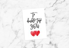 Shop for on Etsy, the place to express your creativity through the buying and selling of handmade and vintage goods. Valentine Love Quotes, Valentine Cards, Valentines, Printable Postcards, Gift For Lover, Double Tap, Printables, Creative, Cute