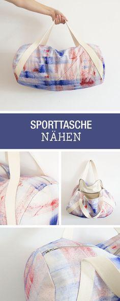 Nähanleitung für eine angesagte Sporttasche oder Weekender / diy sewing tutorial: sew your own duffle bag or weekender via DaWanda.com