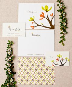 HJ Imagery Collateral // Business Card, Notecard // Branding by The Thoughtful Type // Lisa Reichman