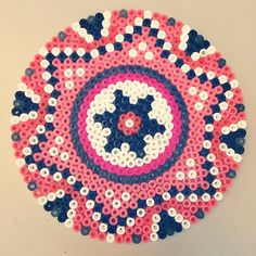 Mandala (inspired by Sara Seir) hama beads by tinajacoby