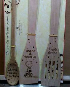 Pirografia su mestoli legno In collaborazione con Ideesenzalimiti