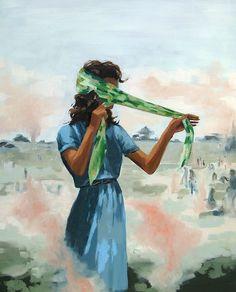 The Retreat . original oil painting. $700.00, via Etsy.