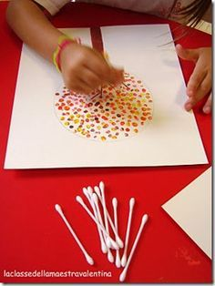 cotton swab painting
