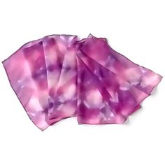 Raspberry Blueberry Hand Dyed Silk Scarf by SilkMari on Etsy, $27.00