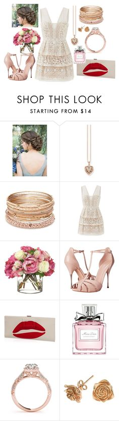 """Lace n' Roses Engagement"" by sarah-boster on Polyvore featuring Thomas Sabo, Red Camel, BCBGMAXAZRIA, Diane James, Alexander McQueen, Roger Vivier, Christian Dior and Dower & Hall"