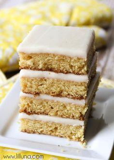White Texas Sheet Cake recipe on { lilluna.com }