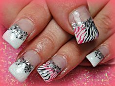 only like the white and silver nails