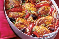 Spend a night in Provence with this French classic, rich with wine and the Mediterranean flavours of olives, tomatoes and roasted capsicum.