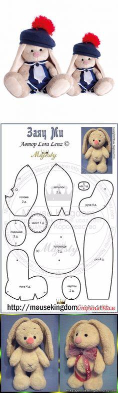 free bunny pattern....♥ Deniz ♥