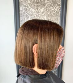 Layered hair is great but there is something about a blunt cut that just works. Having your hair all the same length can really make it easier to styl... Bob Cuts, Blunt Cuts, Blunt Hair, Layered Hair, Your Hair, Short Hair Styles, Bob Styles, Wedge Bob Haircuts, Dull Hair