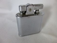 Wales Lighter Chrome Windproof Vintage Blank Initial Panel