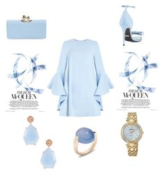 """""""baby blue"""" by marifimarina ❤ liked on Polyvore featuring Gucci, Ted Baker, Suneera, Seiko Watches and Pomellato"""