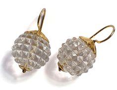 gold crystal rhinestone drop earrings