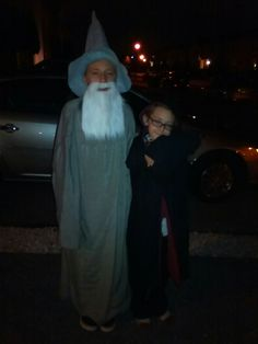 diy Gandalf the grey and Harry potter Halloween costumes