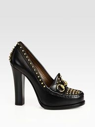 Gucci Studded Leather Pumps