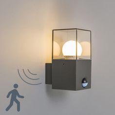 Buitenlamp Denmark wand met bewegingsmelder donkergrijs