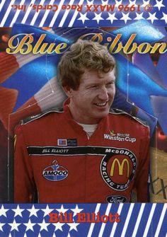 RARE 1996 MAXX STAND UP BLUE RIBBON BILL ELLIOTT MCDONALDS RACING TEAM MINT
