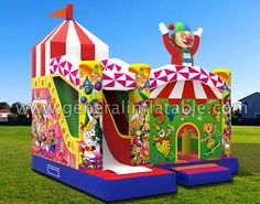 GB-327 Circus combo SIZE(meter):  5.5mLx5mWx5.3mH SIZE(foot):  18ftLx16.5ftWx17.5ftH http://ift.tt/2iY6ukt #inflatable #circuscombo #inflatablecombo