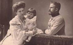Prince Ludwig of Saxe-Coburg with wife, Mathilde and daughter Maria Immaculata