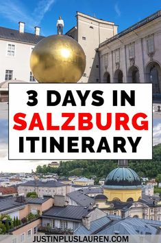 Salzburg Is Such A Stunning Travel Destination. Here Are The Best Things To Do In Salzburg In This Salzburg 3 Day Itinerary. This Salzburg Travel Guide Will Help You Plan Your Travels There. Travel Through Europe, Europe Travel Guide, Travel Guides, Travel Destinations, Holiday Destinations, Budget Travel, Visit Austria, Austria Travel, European Vacation